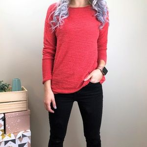 Loft Orange Knit Sweater